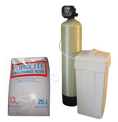 Системы снижение окисляемости и цветности воды анионит Purolite A500P.