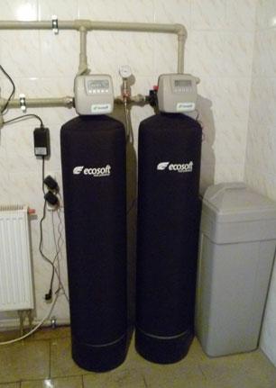 Сорбционный фильтр Ecosoft FPA установлен в технологической схеме водоснабжении