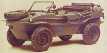 армейский автомобиль-амфибию Volkswagen VW-166 Schwimmwagen
