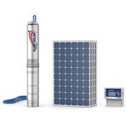 Погружные насосы Pedrollo FLUID SOLAR на солнечной энергии для водоснабжения из скважин диаметром 4″