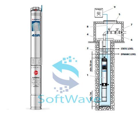 Глубинные насосы для скважин Pedrollo 4SR (4″/98мм)