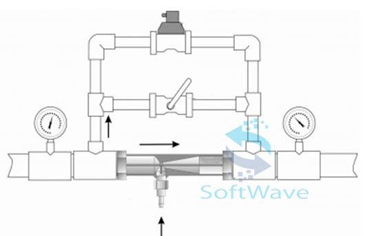 схема эжектор с байпасом