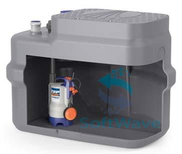 Компактные установки сбора и водоотведения стоков pedrollo sar 250