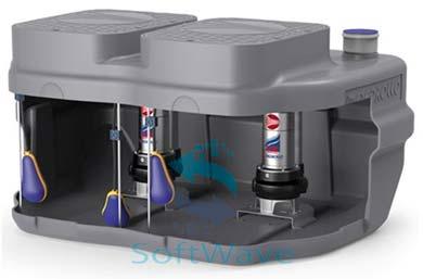 Компактные установки сбора и водоотведения стоков pedrollo sar 550