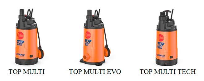 Многоступенчатые погружные насосы Pedrollo TOP MULTI